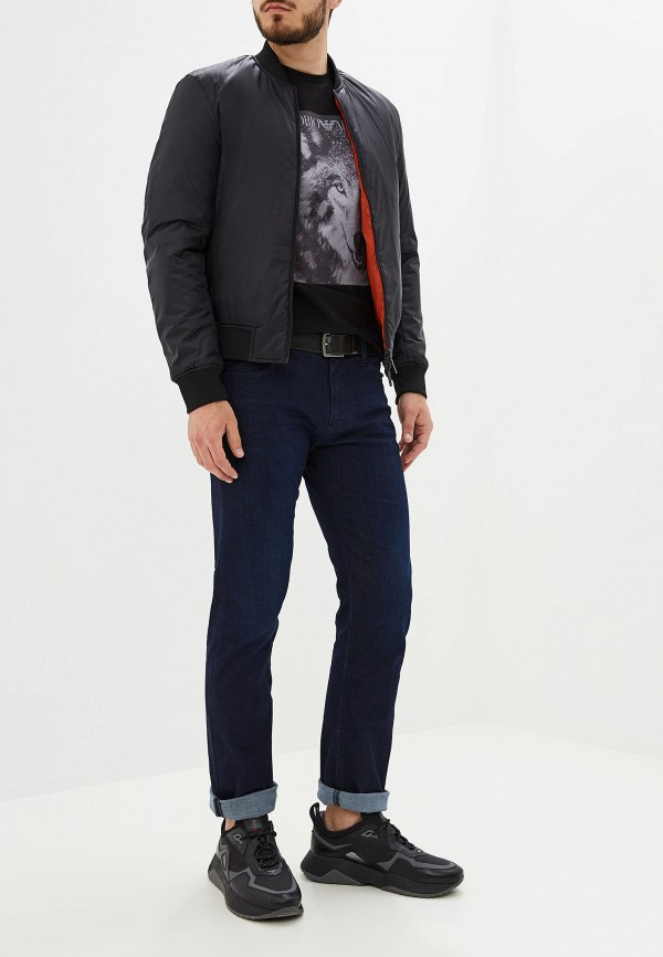 Фото 2 - мужскую футболку Emporio Armani черного цвета
