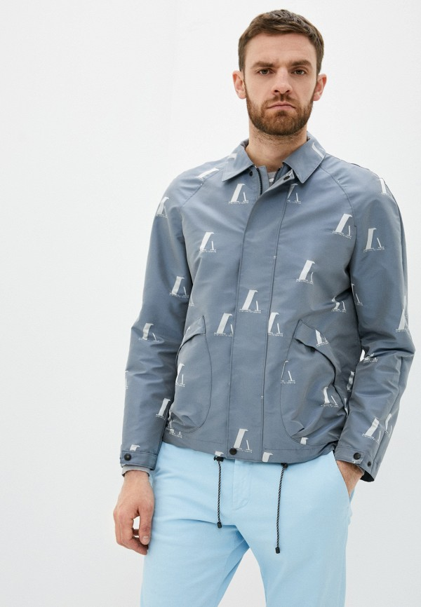 мужская куртка emporio armani, серая