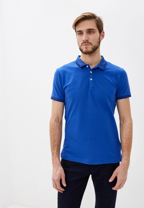 мужское поло emporio armani, синее