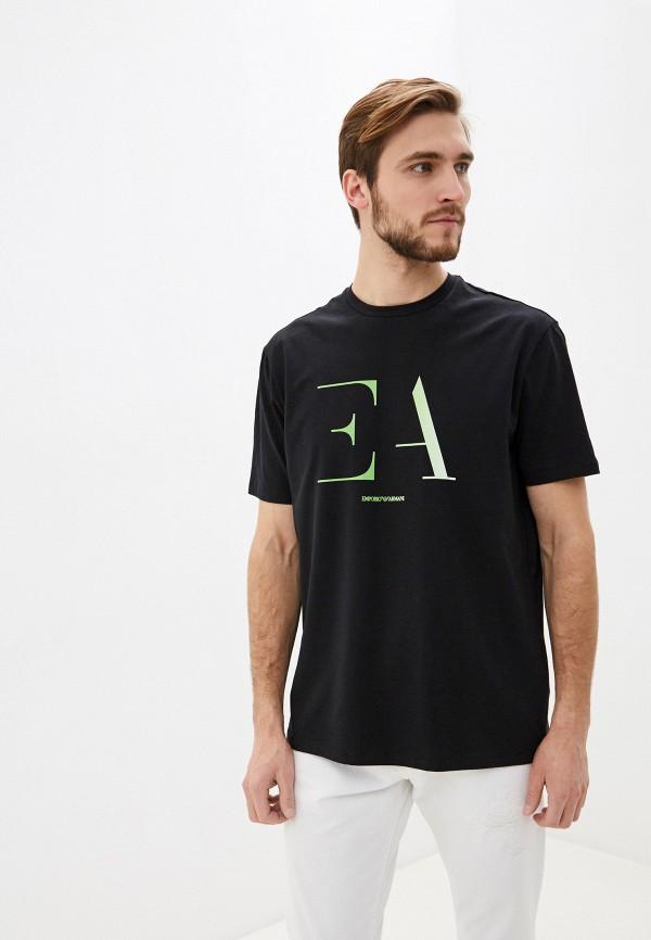 мужская футболка emporio armani, черная