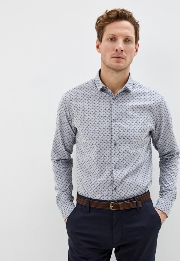 мужская рубашка с длинным рукавом emporio armani, серая