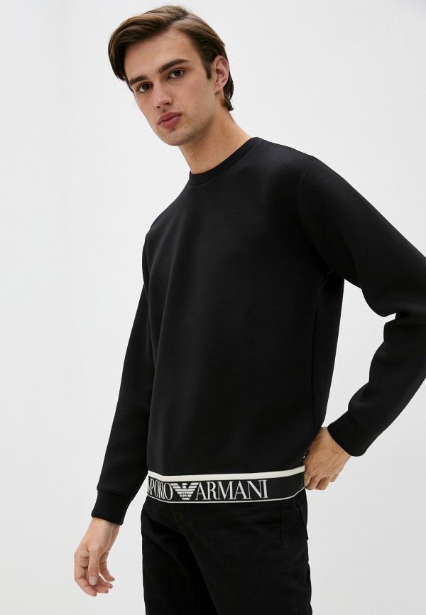 мужской свитшот emporio armani, черный