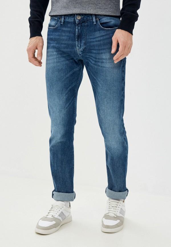 мужские зауженные джинсы emporio armani, голубые