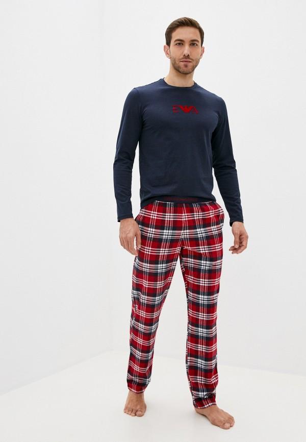 мужская пижама emporio armani, разноцветная
