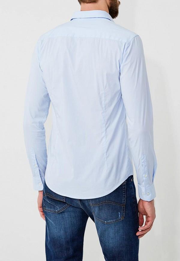 Фото 12 - мужскую рубашку Emporio Armani голубого цвета