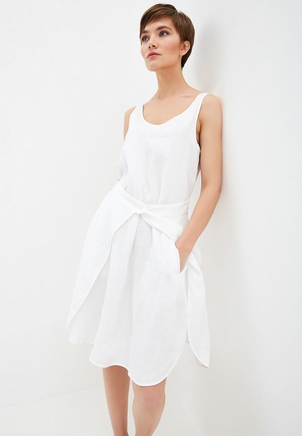 женское повседневные платье emporio armani, белое