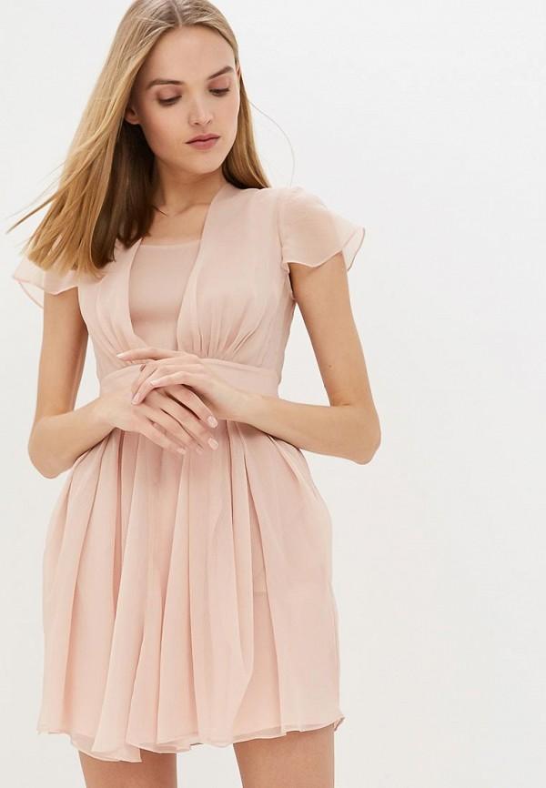 женское повседневные платье emporio armani, розовое