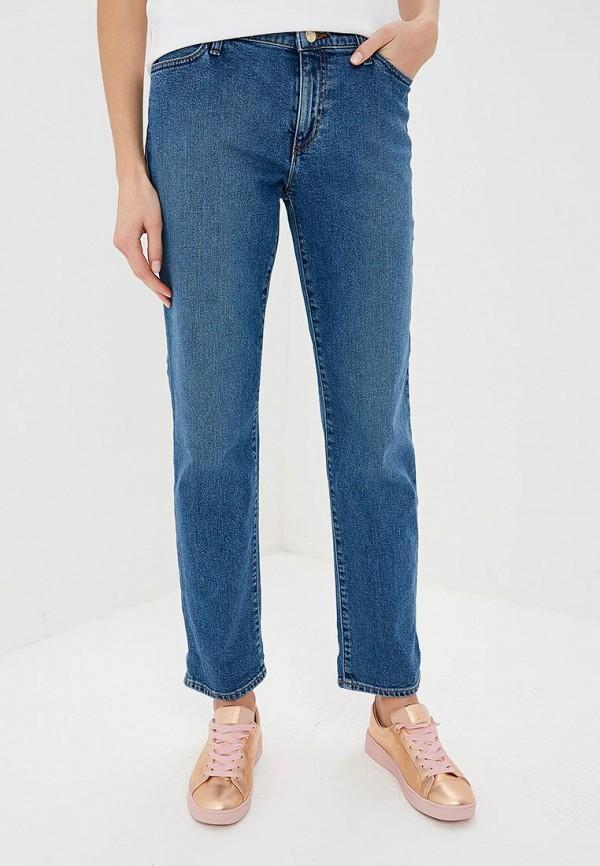 женские прямые джинсы emporio armani, голубые