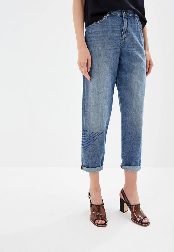 женские джинсы бойфренд emporio armani, синие