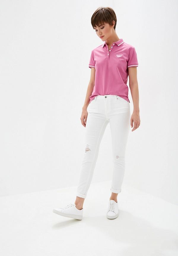 Фото 2 - женское поло Emporio Armani розового цвета