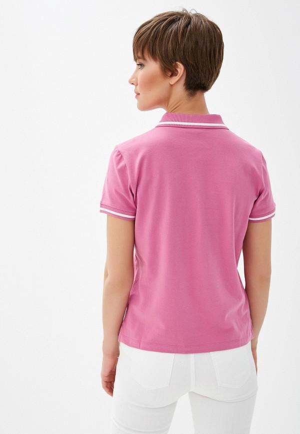 Фото 3 - женское поло Emporio Armani розового цвета