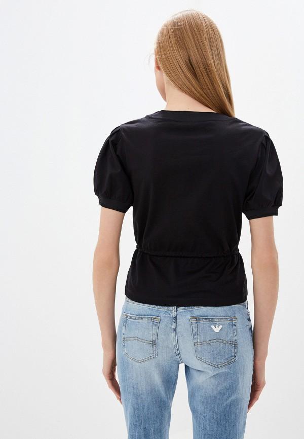Фото 3 - женскую футболку Emporio Armani черного цвета