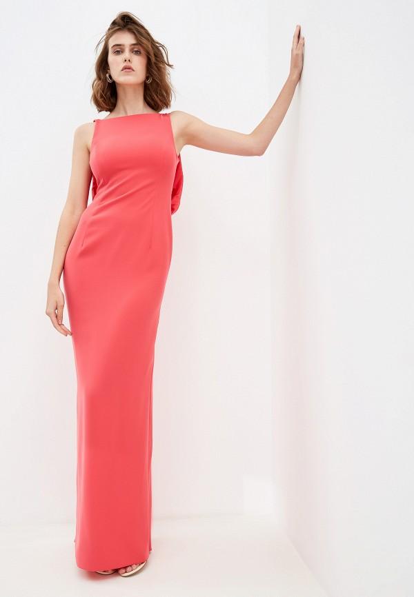женское вечерние платье emporio armani, розовое