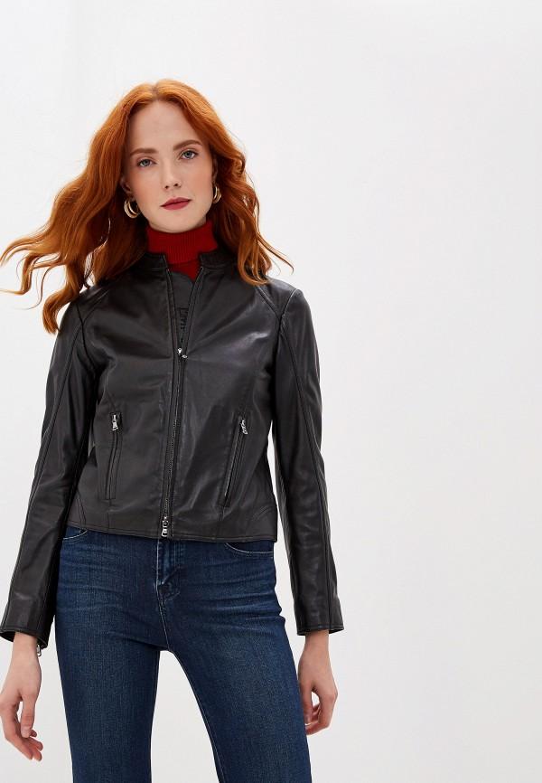 женская куртка emporio armani, черная