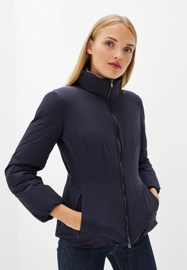 женская куртка emporio armani, синяя