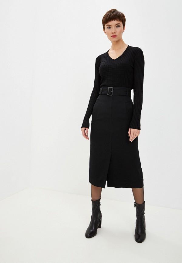 Фото 2 - женский пуловер Emporio Armani черного цвета