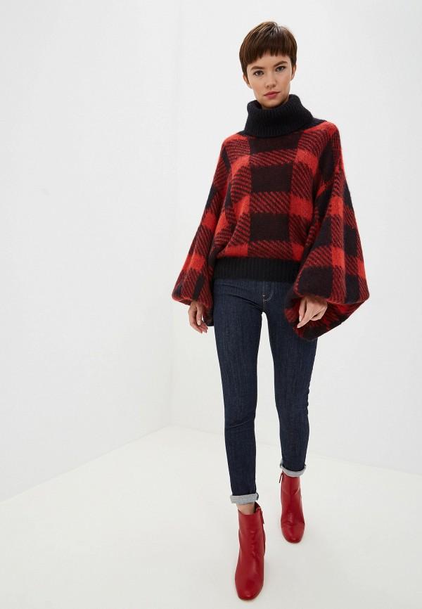 Фото 2 - женский свитер Emporio Armani красного цвета