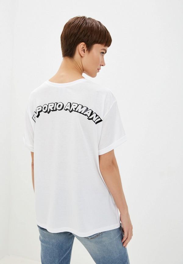 Фото 3 - женскую футболку Emporio Armani белого цвета