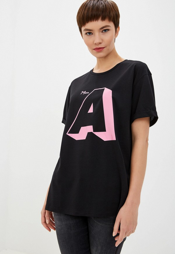 Фото - женскую футболку Emporio Armani черного цвета