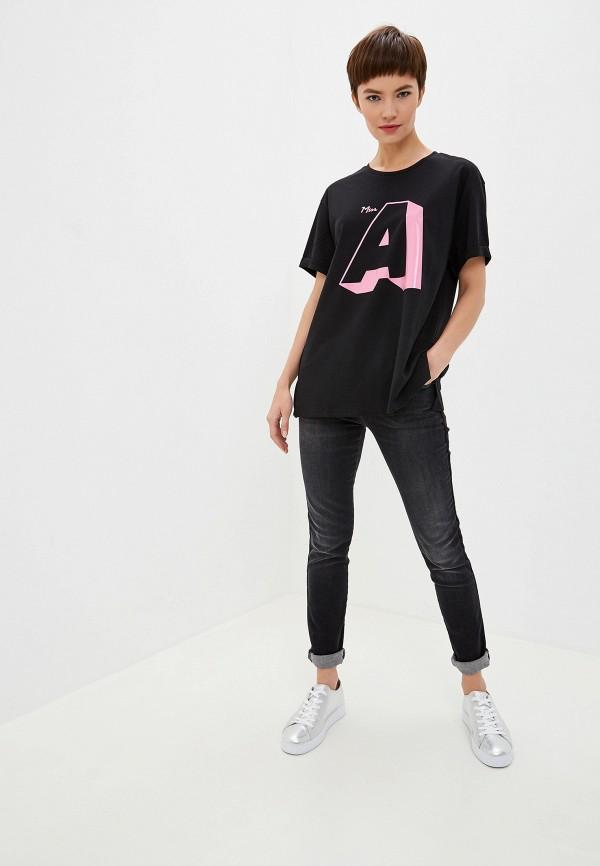 Фото 2 - женскую футболку Emporio Armani черного цвета
