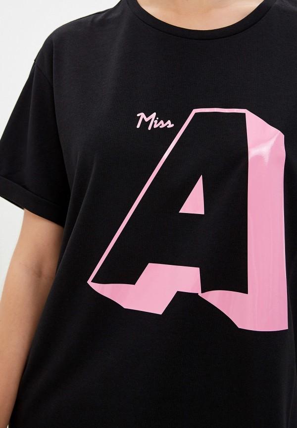 Фото 4 - женскую футболку Emporio Armani черного цвета
