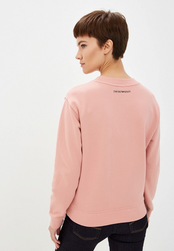 Фото 3 - Свитшот Emporio Armani розового цвета
