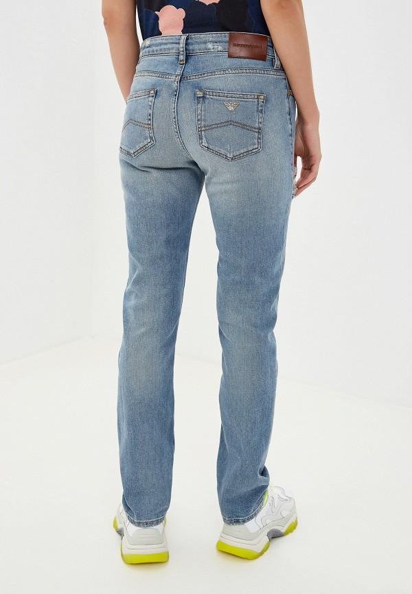 Фото 3 - женские джинсы Emporio Armani голубого цвета