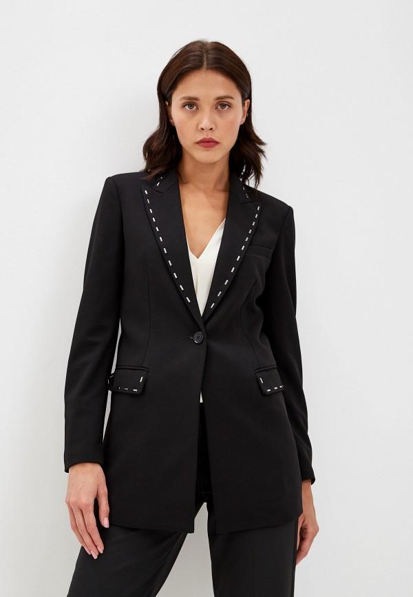 женский пиджак emporio armani, черный