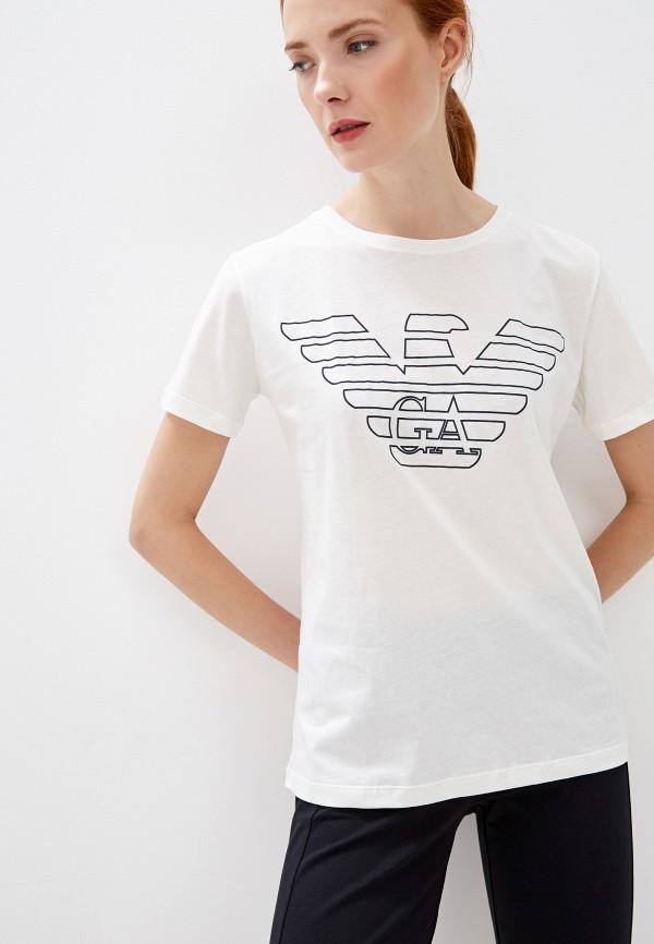 женская футболка emporio armani, белая