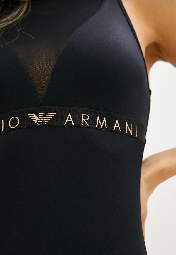 Фото 4 - женские боди Emporio Armani черного цвета