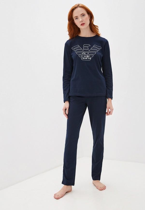 женская пижама emporio armani, синяя