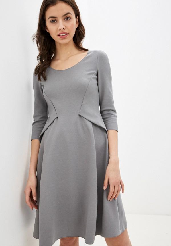 женское повседневные платье emporio armani, серое