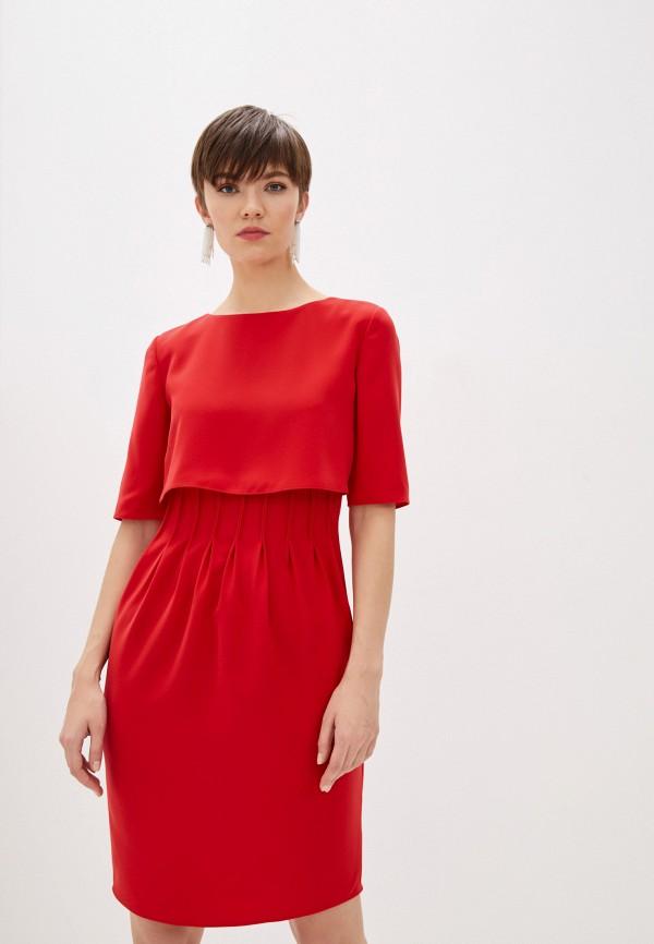 женское повседневные платье emporio armani, красное