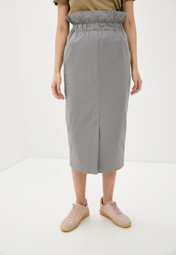 женская прямые юбка emporio armani, серая