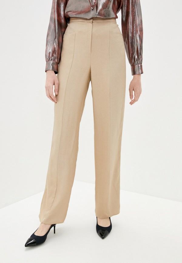 женские классические брюки emporio armani, бежевые