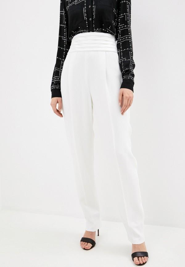 женские классические брюки emporio armani, белые