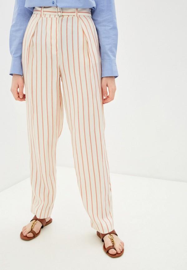 женские повседневные брюки emporio armani, бежевые