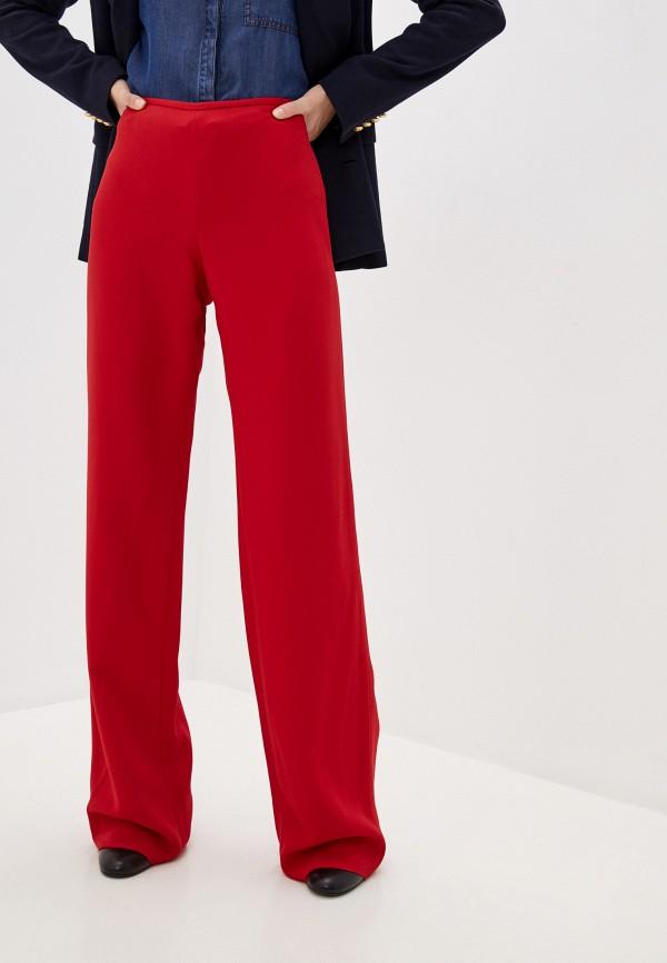женские классические брюки emporio armani, красные