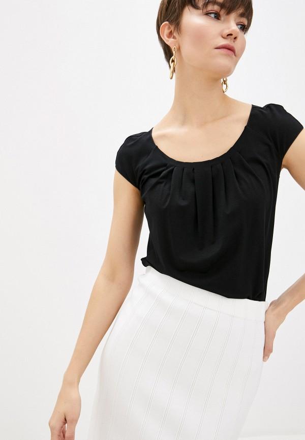 женская футболка emporio armani, черная
