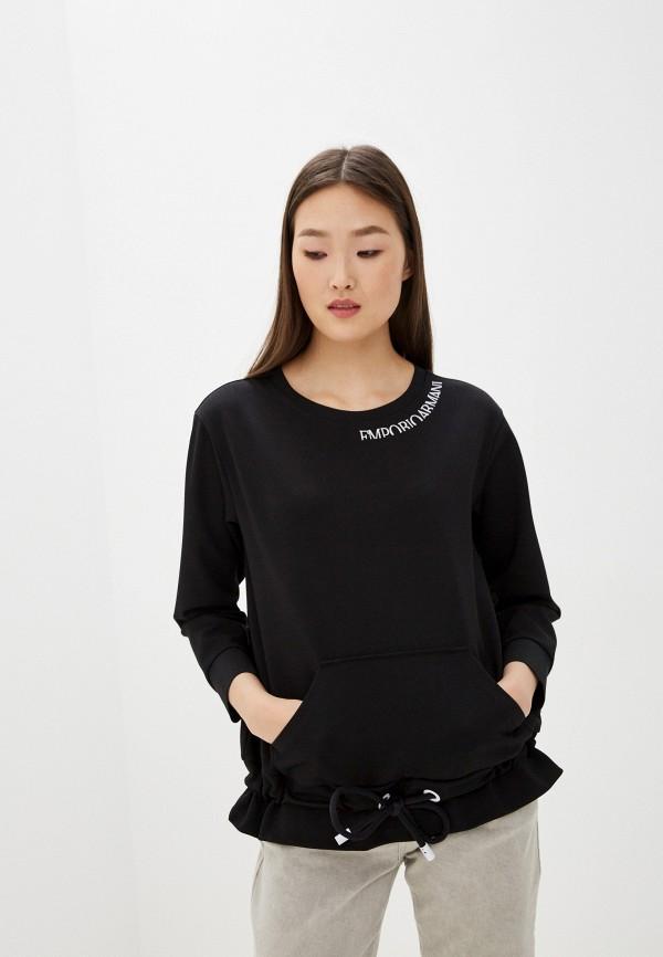 женский свитшот emporio armani, черный