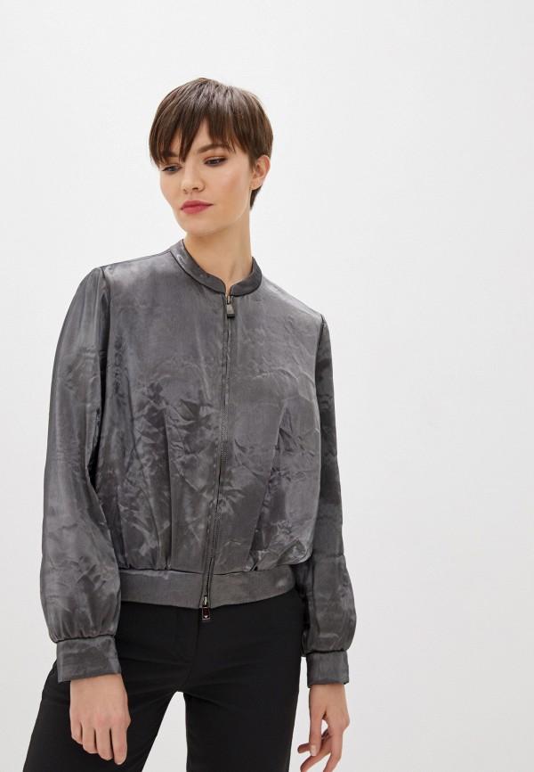 женская куртка emporio armani, серая