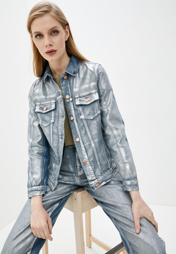 женская джинсовые куртка emporio armani, серая