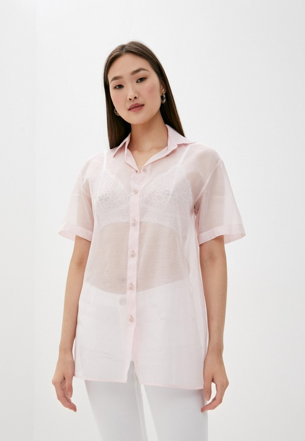 женская блузка emporio armani, розовая