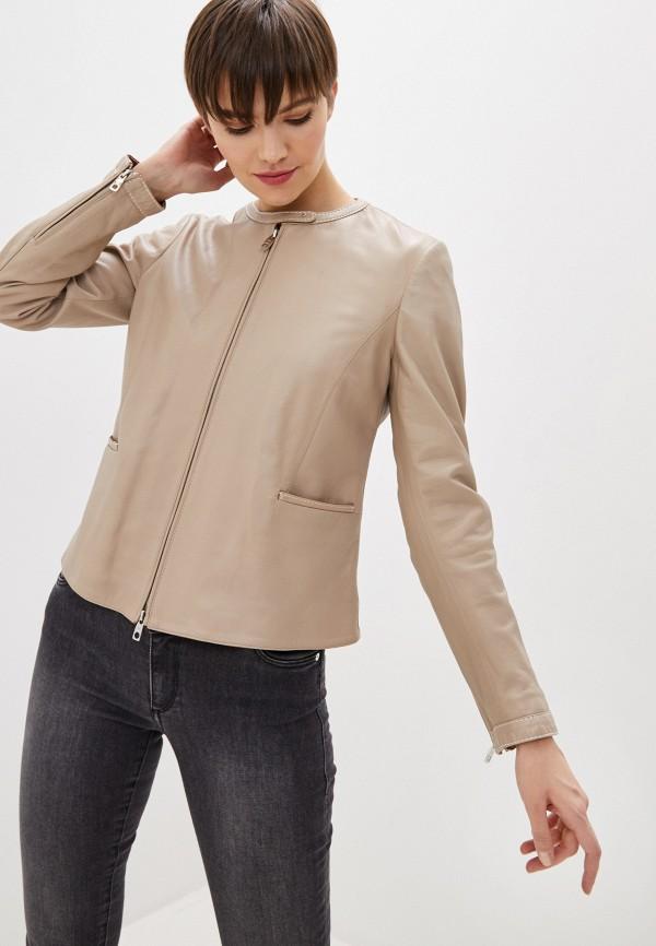 женская куртка emporio armani, бежевая