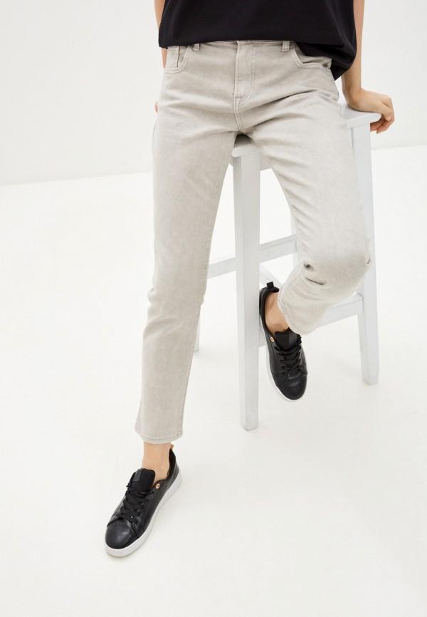 женские прямые джинсы emporio armani, серые