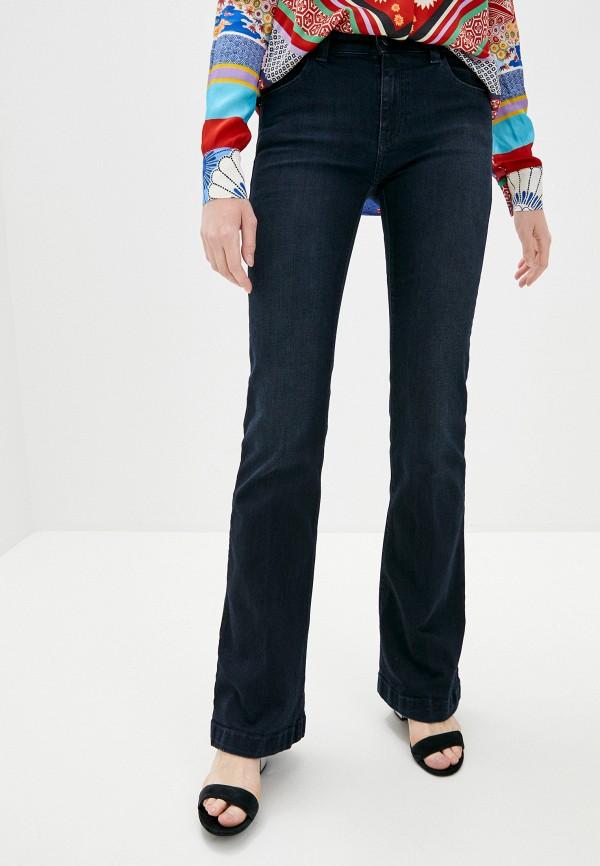 женские джинсы клеш emporio armani, синие