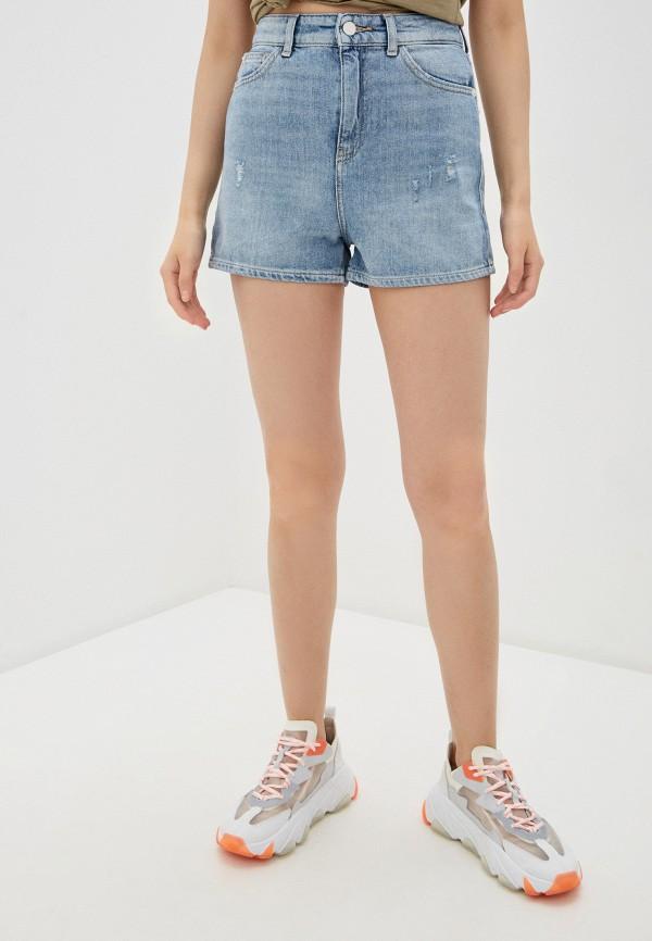 женские джинсовые шорты emporio armani, голубые