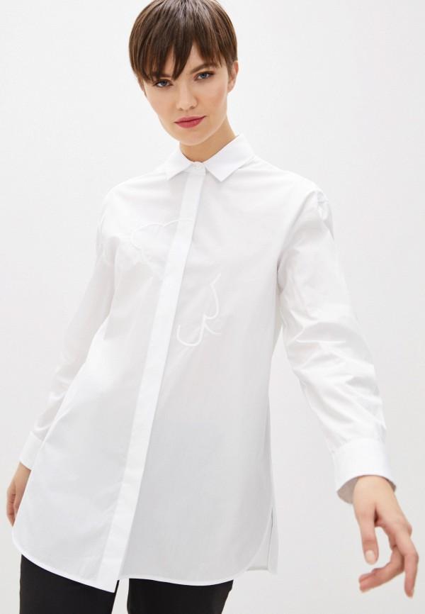 женская рубашка с длинным рукавом emporio armani, белая