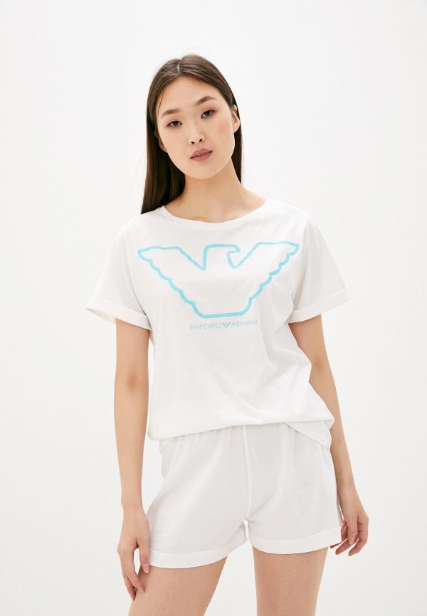 женская пижама emporio armani, белая