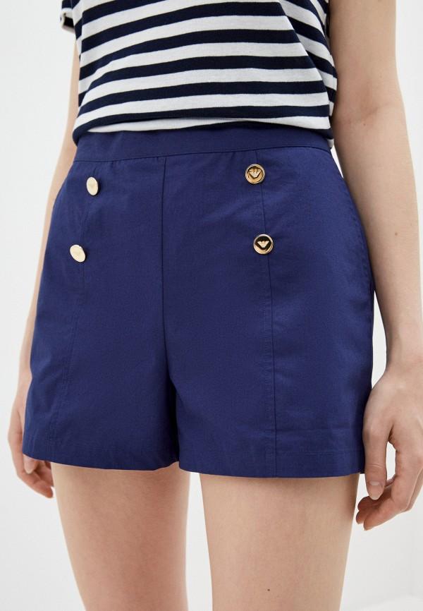 женские повседневные шорты emporio armani, синие